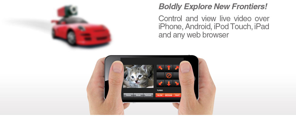 Control your SpyCar with iPod Touch, iPad and Smartphone